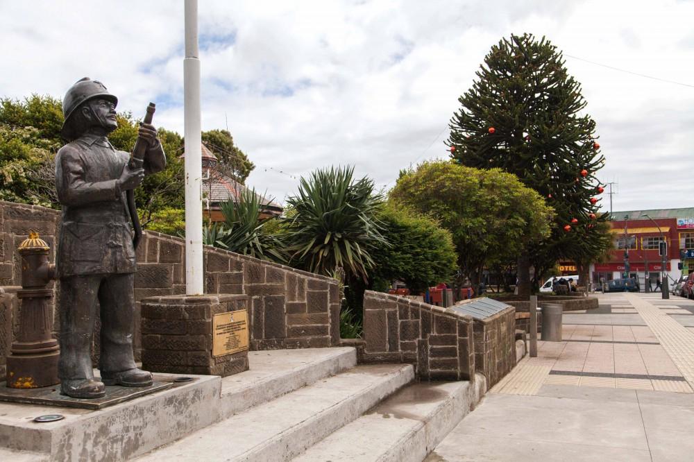 Plaza de Armas ancud bombero